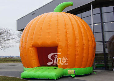 Halloween Pumpkin Inflatable Bounce Houses For Kids Party Outdoor Use