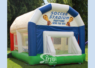 Commmercial Adults Inflatable Games , Green Inflatable Volleyball Court