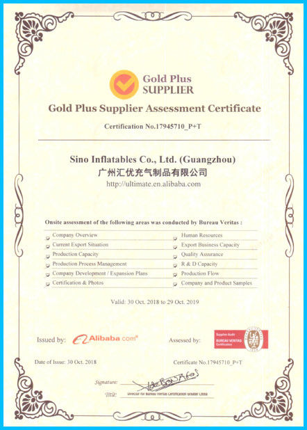 Porcellana Sino Inflatables Co., Ltd. (Guangzhou) Certificazioni